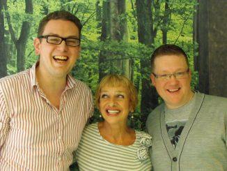 Cav and Mark meet Jacqueline Pearce