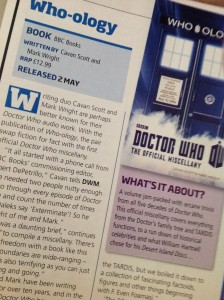 Who-ology previewed in Doctor Who Magazine