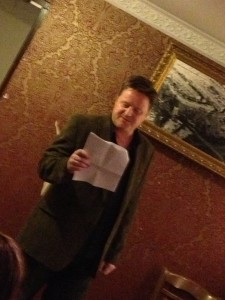 Gareth L Powell reads from Hive Monkey
