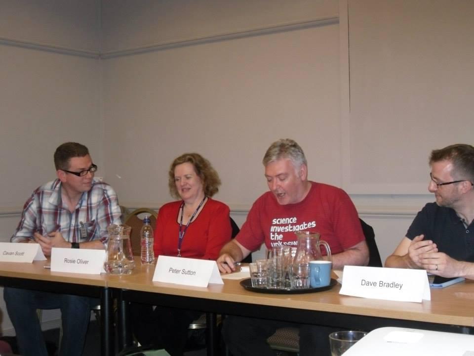 The Groovy Science Panel at Bristolcon 2013 (Photo: Gardner Goldsmith)