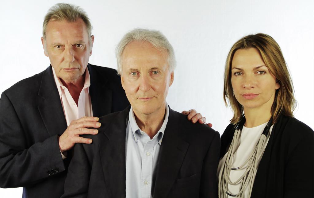 Paul Darrow, Hugh Fraser and Simone Lahbib in Devil's Advocate