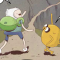 Jake and Finn climb a forbidden mountain in my new Adventure Time strip!