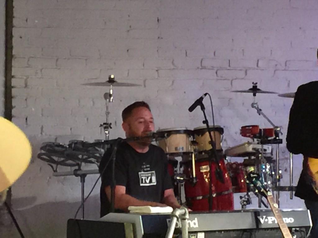 Scott Grimes, AKA Morris from ER, on keyboard