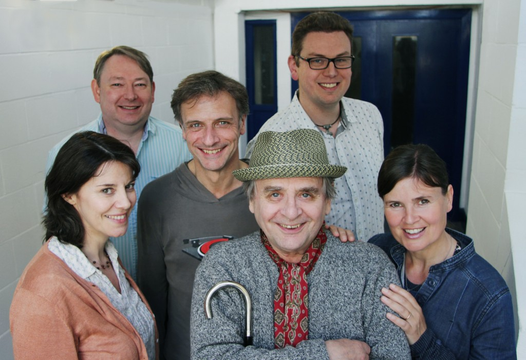 (front) Lisa Bowerman, Sylvester McCoy, Sophie Aldred (back) Justin Richards, Richard Vranch, Me