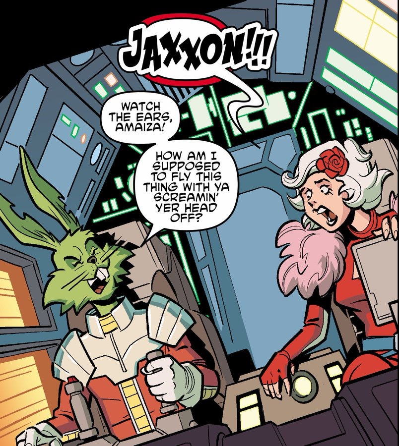 Jaxxon and Amaiza in Star Wars Adventures Annual